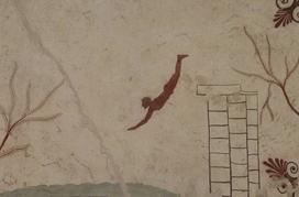 David Harrison - graffiti picture of a person diving