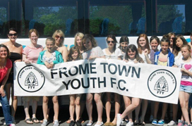 Alison Berry - Photo of Frome Town Youth football team