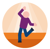 Picture of a man doing a dance