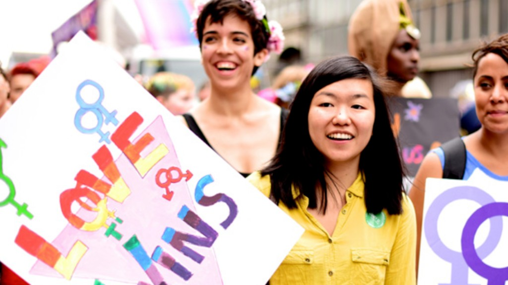 people at protest march for LGBT rights